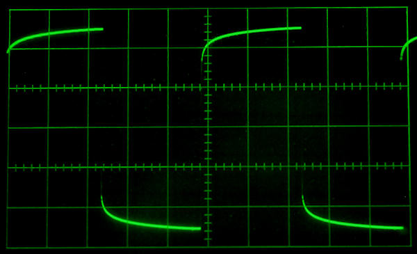image of waveform distorted by interconnect
