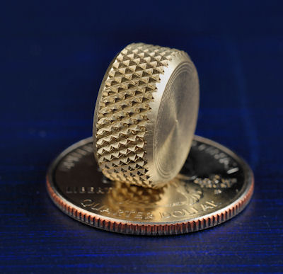 photo of knurled knob