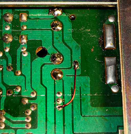 photo of circuit board ground fix
